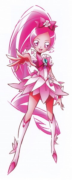 Tags: Anime, Heartcatch Precure!, Hanasaki Tsubomi, Cure Blossom, Official Art