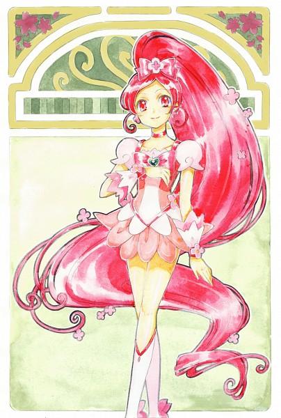 Tags: Anime, Kagamichihiro, Heartcatch Precure!, Hanasaki Tsubomi, Cure Blossom, Pixiv, Fanart, Fanart From Pixiv
