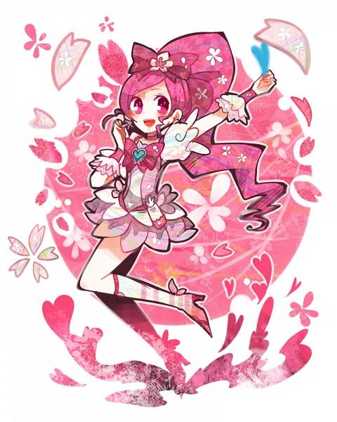 Tags: Anime, Ringetsumon, Heartcatch Precure!, Cure Blossom, Hanasaki Tsubomi, Pixiv, Fanart From Pixiv, Fanart