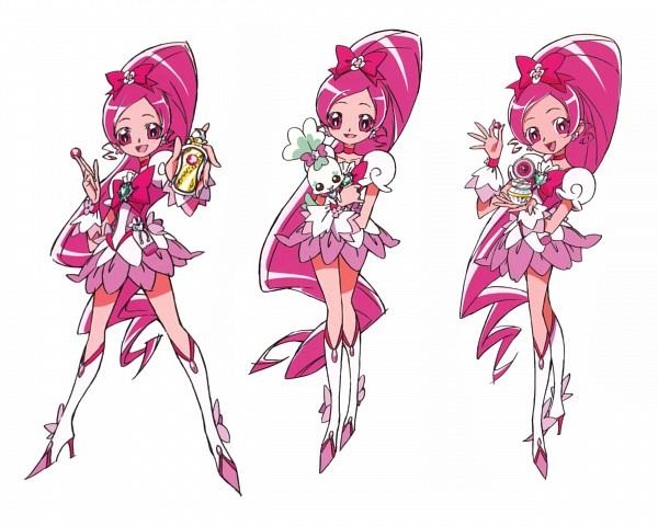 Tags: Anime, Umakoshi Yoshihiko, Heartcatch Precure!, Shypre, Hanasaki Tsubomi, Cure Blossom, Perfume Bottle, Official Art, Scan