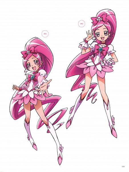 Tags: Anime, Kawamura Toshie, Toei Animation, Heartcatch Precure!, Cure Blossom, Hanasaki Tsubomi, Scan, Official Art
