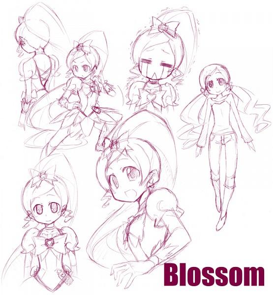 Tags: Anime, Heartcatch Precure!, Cure Blossom, Hanasaki Tsubomi, Sketch