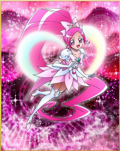 Tags: Anime, Heartcatch Precure!, Precure Tsunagaru Puzzlun, Hanasaki Tsubomi, Cure Blossom