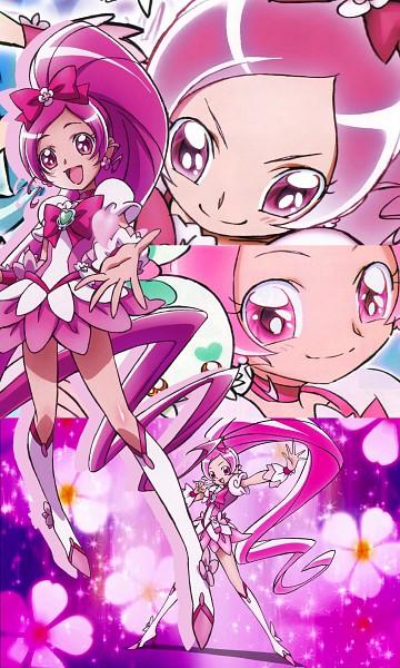 Tags: Anime, Heartcatch Precure!, Hanasaki Tsubomi, Cure Blossom, Screenshot