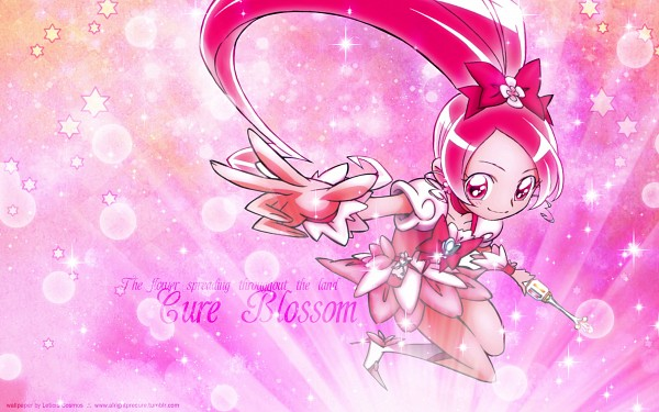 Tags: Anime, Umakoshi Yoshihiko, Heartcatch Precure!, Cure Blossom, Hanasaki Tsubomi, 2560x1600 Wallpaper, Official Art, Wallpaper, HD Wallpaper