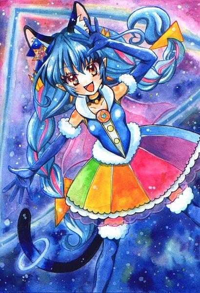 Tags: Anime, Pixiv Id 269157, Star☆Twinkle Precure, Yuni (Precure), Cure Cosmo, Fanart From Pixiv, Pixiv, Fanart