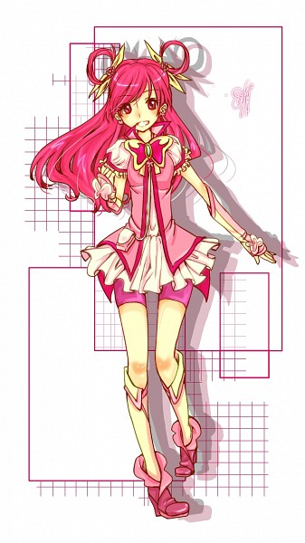 Tags: Anime, Pixiv Id 1740319, Yes! Precure 5, Yumehara Nozomi, Cure Dream, Pink Shorts, Pouch, Pixiv, Fanart From Pixiv, Fanart, Mobile Wallpaper