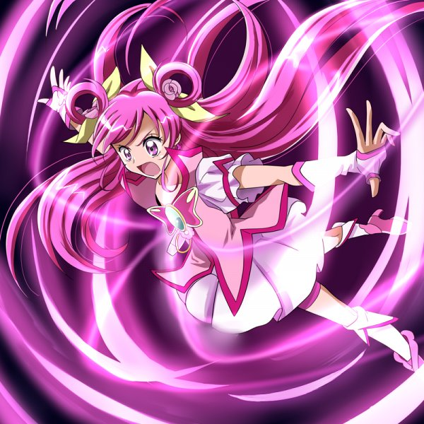 Tags: Anime, Aitaso, Yes! Precure 5, Yumehara Nozomi, Cure Dream, Pink Armwear, Pink Shorts, Fanart From Pixiv, Fanart, Pixiv