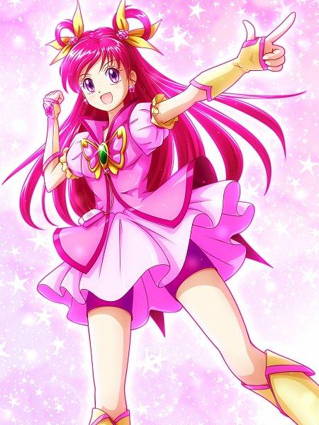 Tags: Anime, Pixiv Id 218489, Yes! Precure 5, Yumehara Nozomi, Cure Dream, Pink Shorts, Pink Armwear, Pixiv, Twitter, Fanart From Pixiv, Wallpaper, Fanart
