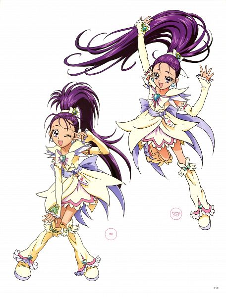 Tags: Anime, Kawamura Toshie, Toei Animation, Futari wa Precure Splash Star, Mishou Mai, Cure Egret, Official Art, Scan
