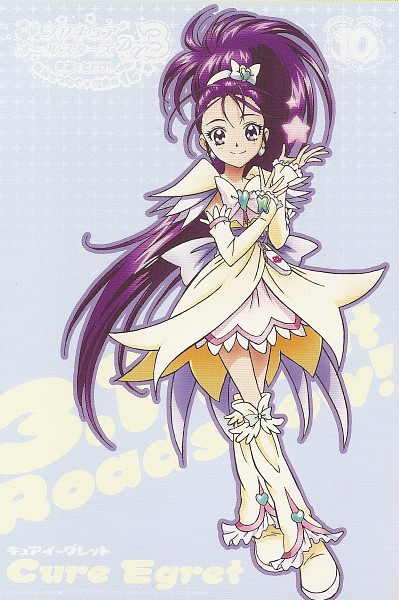 Tags: Anime, Kawamura Toshie, Futari wa Precure Splash Star, Mishou Mai, Cure Egret, Scan, Card (Source), Official Art