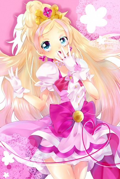 Tags: Anime, Pixiv Id 2107061, Go! Princess Precure, Cure Flora, Haruno Haruka, Fanart From Pixiv, Pixiv, Fanart