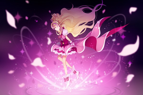 Tags: Anime, Pixiv Id 143114, Go! Princess Precure, Cure Flora, Haruno Haruka, Fanart From Pixiv, Pixiv, Fanart