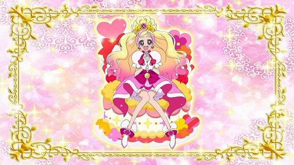 Tags: Anime, Go! Princess Precure, Cure Flora, Haruno Haruka, Wallpaper