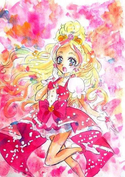 Tags: Anime, Go! Princess Precure, Cure Flora, Haruno Haruka, Artist Request