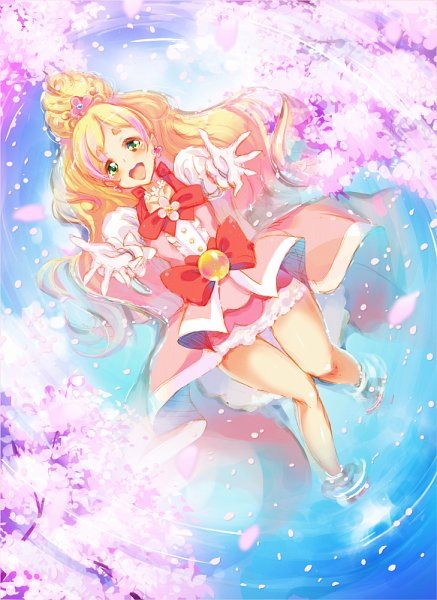 Tags: Anime, Pixiv Id 380554, Go! Princess Precure, Cure Flora, Haruno Haruka, Flower Necklace, Fanart From Pixiv, Pixiv, Fanart