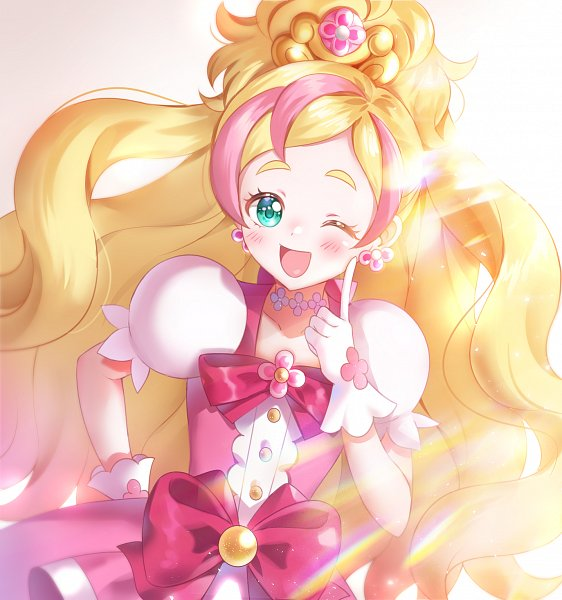 Tags: Anime, Pixiv Id 5716768, Go! Princess Precure, Cure Flora, Haruno Haruka, Flower Necklace, Pixiv, Fanart, Fanart From Pixiv