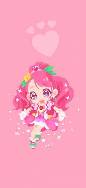 Tags: Anime, Pixiv Id 128668, Healin'Good♥Precure, Cure Grace, Hanadera Nodoka, 6:13 Ratio, 1125x2436 Wallpaper, Wallpaper, Fanart, Mobile Wallpaper, Twitter