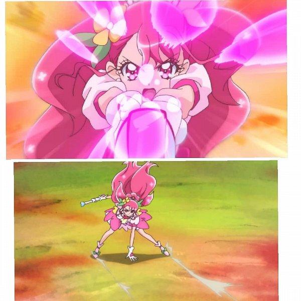 Tags: Anime, Healin'Good♥Precure, Hanadera Nodoka, Cure Grace, 1080x1080 Wallpaper, Wallpaper, Edited, Collage, Screenshot