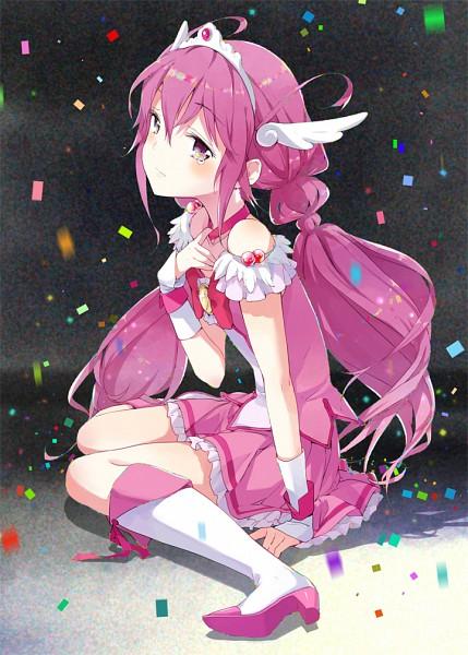Tags: Anime, Tiv, Smile Precure!, Cure Happy, Hoshizora Miyuki, Pixiv, Fanart, Fanart From Pixiv, Mobile Wallpaper
