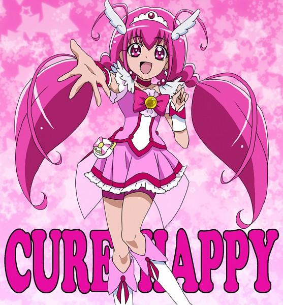 Tags: Anime, Masami (Artist), Smile Precure!, Cure Happy, Hoshizora Miyuki, Pink Shorts, Fanart, Fanart From Pixiv, Pixiv