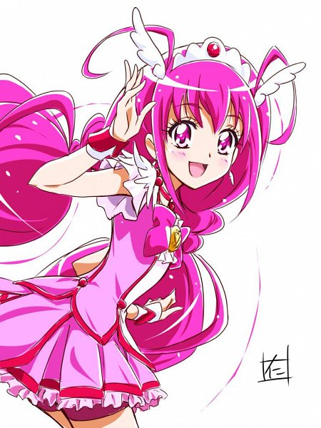 Tags: Anime, Pixiv Id 17089321, Smile Precure!, Hoshizora Miyuki, Cure Happy, Pink Shorts, Fanart From Pixiv, Twitter, Pixiv, Fanart