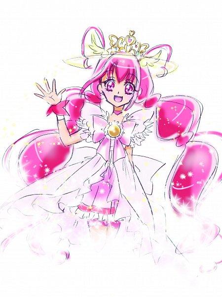 Tags: Anime, Fpminnie1, Smile Precure!, Cure Happy, Hoshizora Miyuki, Pink Shorts, Fanart, Twitter