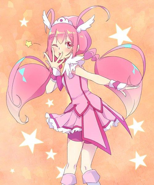 Tags: Anime, Pixiv Id 1007247, Smile Precure!, Hoshizora Miyuki, Cure Happy, Pink Shorts, Pixiv, Fanart, Fanart From Pixiv