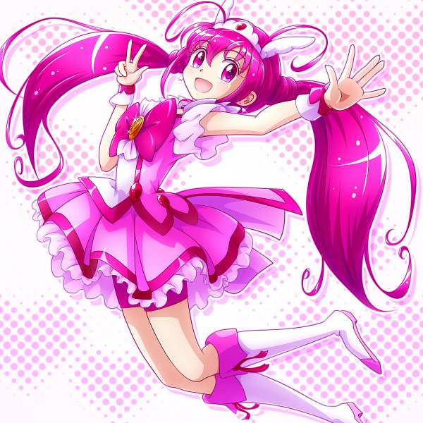 Tags: Anime, Pixiv Id 218489, Smile Precure!, Cure Happy, Hoshizora Miyuki, Pink Shorts, Fanart, Fanart From Pixiv, Twitter, Pixiv