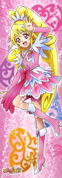 Tags: Anime, Dokidoki! Precure, Aida Mana, Cure Heart, Official Art, Scan