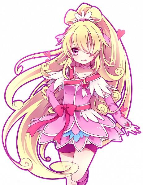 Tags: Anime, Anthiea, Dokidoki! Precure, Aida Mana, Cure Heart, Pink Shorts, Fanart, Fanart From Pixiv, Pixiv