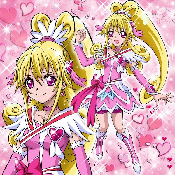 Tags: Anime, Pixiv Id 1059771, Dokidoki! Precure, Aida Mana, Cure Heart, Heart Hair Ornament, Pink Shorts, Pixiv, Fanart, Fanart From Pixiv