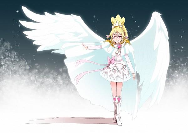Tags: Anime, Pixiv Id 61554, Dokidoki! Precure, Aida Mana, Cure Heart, Parthenon Mode, Fanart From Pixiv, Pixiv, Fanart