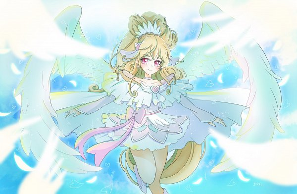 Tags: Anime, Satou Shioko, Dokidoki! Precure, Aida Mana, Cure Heart, Twitter, Fanart