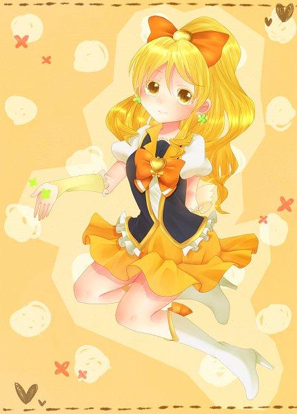 Tags: Anime, Pixiv Id 2107061, HappinessCharge Precure!, Cure Honey, Oumori Yuuko, Yellow Skirt, Yellow Armwear, Orange Bow, Fanart From Pixiv, Pixiv, Fanart