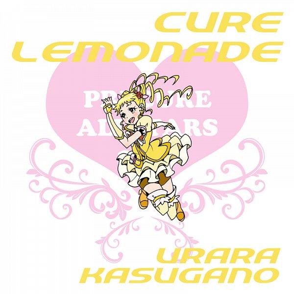 Tags: Anime, Eunos, Yes! Precure 5, Kasugano Urara, Cure Lemonade, Yellow Shorts, Pixiv, Fanart From Pixiv, Fanart