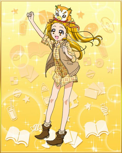 Tags: Anime, Yes! Precure 5, Precure Tsunagaru Puzzlun, Syrup (Pretty Cure), Kasugano Urara, Cure Lemonade