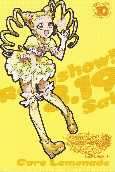 Tags: Anime, Kawamura Toshie, Yes! Precure 5, Cure Lemonade, Kasugano Urara, Official Art