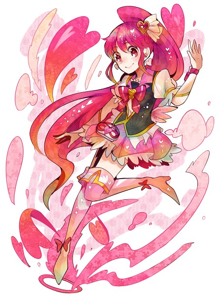 Tags: Anime, Ringetsumon, HappinessCharge Precure!, Aino Megumi, Cure Lovely, Heart Clip, Fanart, Nico Nico Douga