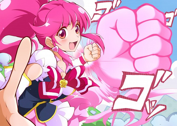 Tags: Anime, Pixiv Id 1399833, HappinessCharge Precure!, Cure Lovely, Aino Megumi, Fanart, Fanart From Pixiv, Pixiv