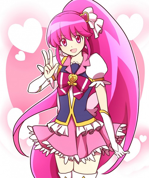 Tags: Anime, Kuroi (Your Blood), HappinessCharge Precure!, Cure Lovely, Aino Megumi, Heart Hair Ornament, Fanart, Fanart From Pixiv, Pixiv