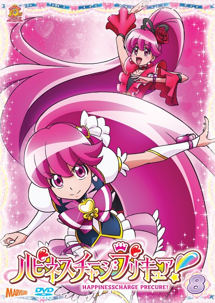 Tags: Anime, Satou Masayuki, HappinessCharge Precure!, Cure Lovely, Aino Megumi, Flamenco, DVD (Source), Mobile Wallpaper, Cherry Flamenco, Official Art, Scan