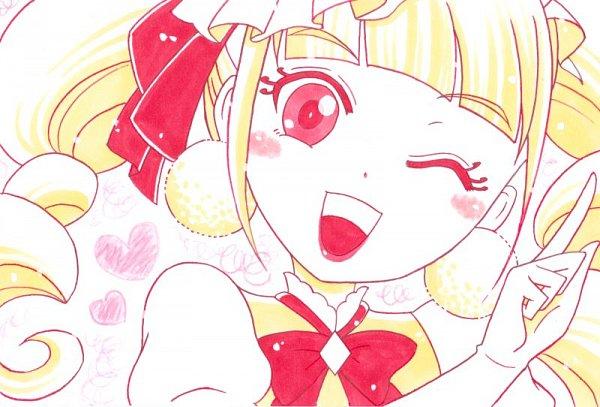 Tags: Anime, Pixiv Id 899731, HUGtto! Precure, Cure MaChérie, Aisaki Emiru, Yellow, Fanart From Pixiv, Pixiv, Fanart