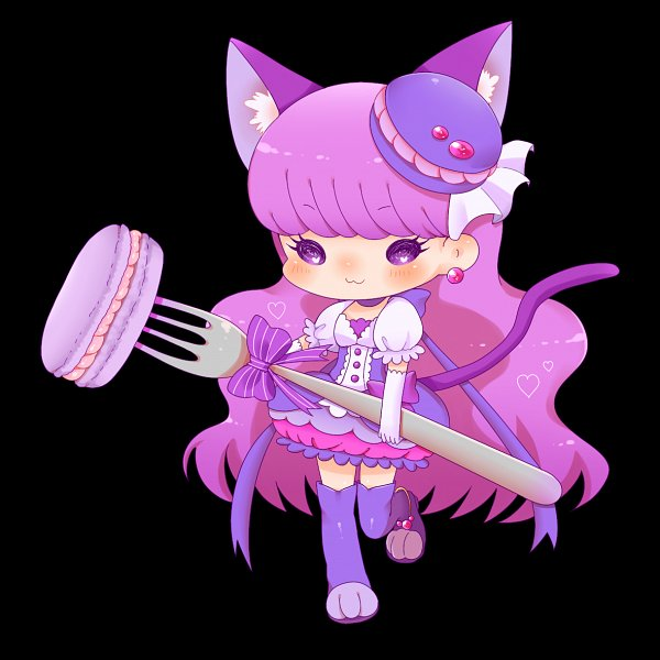 Tags: Anime, Pixiv Id 871011, Kirakira☆Precure a la Mode, Kotozume Yukari, Cure Macaron, Holding Fork, Fanart From Pixiv, Pixiv, Fanart