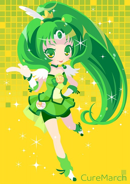 Tags: Anime, Pixiv Id 128668, Smile Precure!, Cure March, Midorikawa Nao, Fanart From Pixiv, Pixiv, Fanart