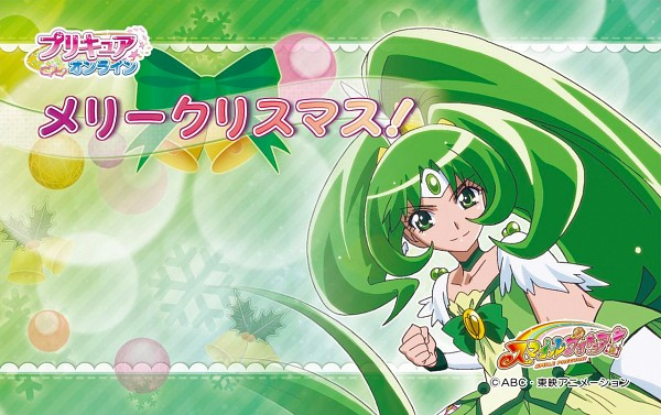 Tags: Anime, Toei Animation, Smile Precure!, Cure March, Midorikawa Nao, Official Art, Wallpaper