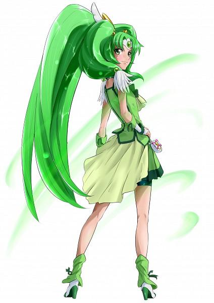 Tags: Anime, Nukosan., Smile Precure!, Midorikawa Nao, Cure March, Kneepits, Fanart From Pixiv, Pixiv, Fanart
