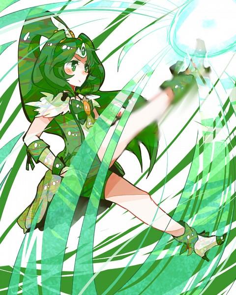 Tags: Anime, Ringetsumon, Smile Precure!, Midorikawa Nao, Cure March, Green Gloves, Green Handwear, Green Footwear, Fanart From Pixiv, Pixiv, Fanart