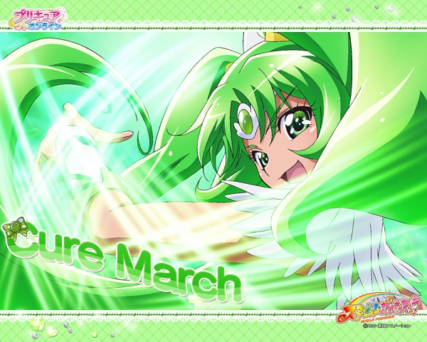 Tags: Anime, Kawamura Toshie, Smile Precure!, Midorikawa Nao, Cure March, Official Art, Official Wallpaper