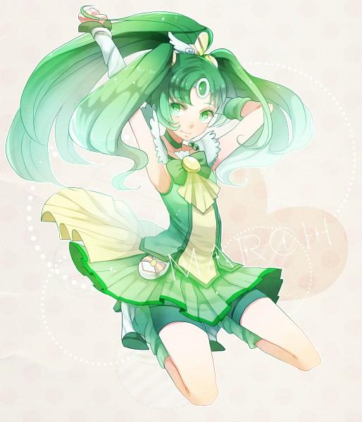 Tags: Anime, Pixiv Id 687027, Smile Precure!, Midorikawa Nao, Cure March, Green Footwear, Green Shorts, Fanart From Pixiv, Pixiv, Fanart